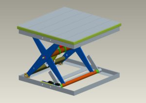 piattaforma a singolo pantografo